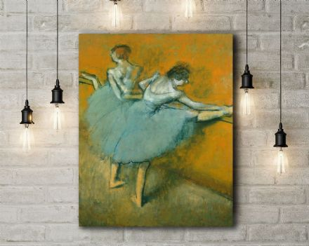 Edgar Degas: Dancers at the Barre. Fine Art Canvas.